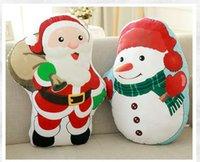 big couches - cartoon snowman cushion cover christmas fundas kids throw pillow case sofa chair couch decor cojines