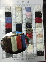 Wholesale Woman s fashion polyester sequin yarn textured for sweaters scarfs and gloves