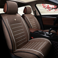 Wholesale Factory direct supply universal car seat cover of flax four seasons Five seats car seat covers design automotive supplies black seat cushion