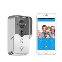 Wholesale Hot New Wifi video door phone doorbell Wireless Intercom Support G G IOS Android for iPad Smart Phone Tablet Control