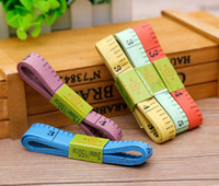 Wholesale 150cm length Random Color Soft Tape Measures Sewing Tailor Fitness Caliper Measuring Body Plastic Soft Feet Ruler Gauging Tools