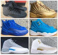 Wholesale Retro Basketball Shoes Men Women s OVO White Gym Red Wolf Grey Flu Game Black Nylon Premium Deep Royal Blue Sports Sneakers