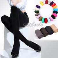 beauty pantyhose - NEW Pair Beauty Opaque Footed Tights Sexy Women s Spring Autumn Winter Pantyhose Colors