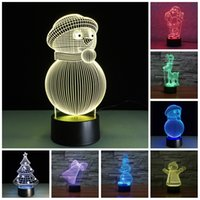 Cheap USB Style And Energy Saving Light Source 7 Color Change Christams Series 3d Led Night Lamp