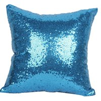 Wholesale 6 Colors Hot Single Color Sequins Pillow Case Shiny Square Sofa Car Decorations Bright Magic Pillow Cover In Stock