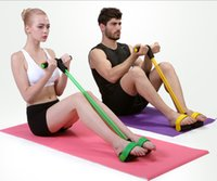 Wholesale New man and women Fitness Equipments Ab Rollers with Tension rope Double Wheeled Trainer Abdominal muscles exercise Foot pull rope