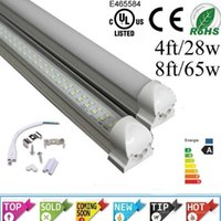 Wholesale ce rohs UL T8 Integrated Double row led tube ft w ft w SMD2835 led Light Lamp Bulb led lighting fluorescent AC85 V Years Warranty