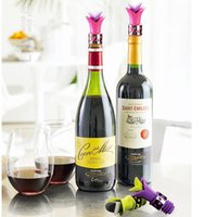 Wholesale Lily Wine Bottle Stoppers Flower Silicone Approved Food Grade Durable Wine pourer Bar Tools DHL Shipping Free