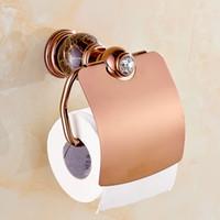 Wholesale Jade marble paper towel rack toilet paper holder copper Antique Rose Gold toilet roll toilet paper carton box