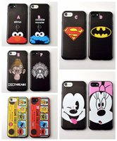 apple buses - For Iphone p S Plus Mickey Minnie Mouse Soft Silicone Case Batman Rubber Cover Superman Superhero Cartoon Cute Black Bus Skin