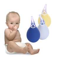 Wholesale Baby Nasal Aspirator Health Silicone Nose Snot Cleaner Softest Vacuum Baby Nasal Aspirators Yellow White Blue