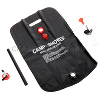 Wholesale Camping Shower Bag Solar Portable L Hiking Outdoor Bath Trekking Water Heater