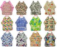 baby clothes for feeding apron baby - 5pcs Baby Bibs Long Sleeve with Cartoon Print Toddler Child Apron Waterproof Feeding Bibs Baberos Bebes Infant Girls Bibs