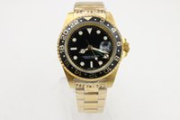 Wholesale Famous brand Mans mechinal watch mm size Gold face Stainless steel bezel A quality watch
