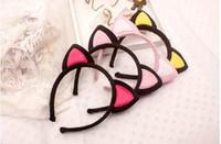 Wholesale More than colors Girl Hair Accessories Korean New Cute Cat Ears Headband Headdress Girls Hairpin a