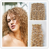 Wholesale Cheap Malaysian Hai Curly Clip In Hair Extensions set Remy Blonde Human Hai Extensions Real Human Natural Hair