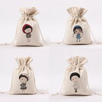 animated fabric - Fashion Popular Bags For Girls Men Japanese and Korean Style Simple Personality Animated Caracters While Cloth Bag