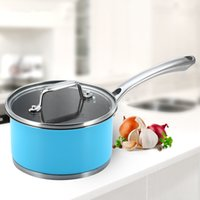 Wholesale Blue cm Aluminum Stainless Steel Saucepan with Glass Lid