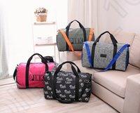 Wholesale Pink Letter Canvas Handbags Women Messenger Large Capacity Shoulder Bag Rucksack Tote Bag Vintage Clutch Bag Luggage Bags OOA1007