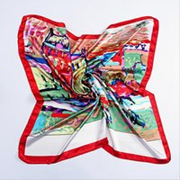 abstract scarves - Spring Autumn Woman Oil Abstract Painting scarf women big size silk scanves winter women shawls girl wraps NEW cm cm