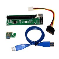 Wholesale Best quality PCI E PCI E Express X to X Riser Card USB Extender Cable with Power Supply for Bitcoin Litecoin Miner CM