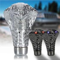 Wholesale Universal Decorative Led Eyes Car Chrome Manual Gear Shift Knob Snake AUP_50A