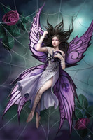 anne stokes - Hand Painted Portrait Oil Paintings on Canvas Anne Stokes Silk Lure Any customized size accepted