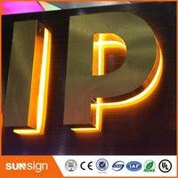 Wholesale Custom waterproof backlit stainless steel d letters led