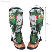 Wholesale New Outdoor Camouflage Water resistant Gaiters Leg Protect Guard Skiing Hiking Camping Climbing Protect Equipment Accessory