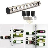 Precio de Bastidores de almacenamiento de vino-Nuevos soportes para botellas de vinos creativos Inicio Barras de pared de uva botellas de vino Display Stand Rack Organizador de almacenamiento de suspensión 1 Set 8/12 agujeros