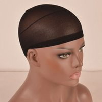 Wholesale 10pcs Packs Black Wig Caps Elastic Hair Net Liner Cap Snood Nylon Mesh Sheer