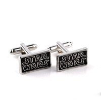 Wholesale Star Wars Cufflinks retail Novelty Black Classic Movie Design Quality Brass Material Best Gift For Men