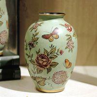Wholesale Luxury Ceramics Flower Pot pastoral style vase For Home Office Decoration house ornament flower vase