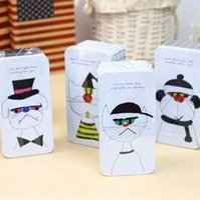 Wholesale Fashion creative cartoon Moore family receive double tin box Household receive and storage box of kitchen bathroom storage box