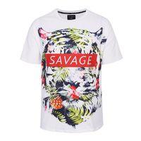 big mens graphic t shirts - Big size d print savage tiger girl high quality loose mens t shirts graphic tide brand hip hop fat boys mens tshirt