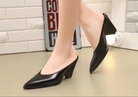 Wholesale 2017 new arrival fashion women sandals high heel pointed toe genuine leather women shoes comfortable high qulity pumps