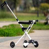 Wholesale Hot Baby Portable Trike Lightweigh Tricycle Stroller Small Children Convenient Chair Sitting folding cart for child years three wheels