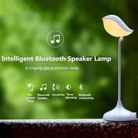 audio eyes - Intelligent D Bird Shape Bluetooth Speaker Hands Free Mic with Desk Lamp LED Bird Eye Care Dimmable Lamp Bluetooth Audio Lamp DHL free