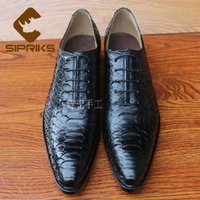 bespoke shoes - Plus size luxury mens bespoke goodyear welted shoes elegant black python shoes for men italian handmade mens snake skin shoes