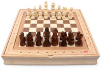 Wholesale 2016 New High quality Board Game Solid Wood Standard International Desktop Wooden Chess Sets Natural Environment K835