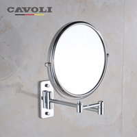 Wholesale Silver inch Lady MakeUp Mirror Folding Bath Mirrors Dual Side Normal Magnifying Brand Bathroom Accessories MM1112