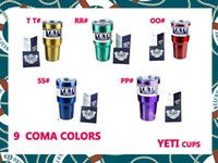 Wholesale 2016 new metal colors YETI Cups YETI Rambler Tumbler oz ml Cup Beer Tumblerful Vacuum Insulated Stainless Steel Mugs Free DHL