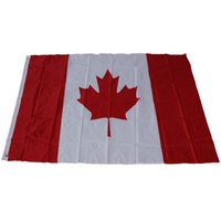 Wholesale New cmx150cmCanada National Flags feet Large Canadian Flags Polyester Canada Maple Leaf Banner Outdoor flags