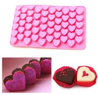 Wholesale New Year Cute Cell Heart Style Silicone Chocolate Ice Candy Lolly Muffin Mold Rectangle Cube DIY Ice Cube