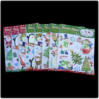 bedroom wall unit - Christmas Snowflake Christmas Stars Stores Unit Glass Window Stickers Santa Claus Christmas Sticker DHL Free