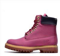 2016 nouvelles femmes de la mode des bottes en bois blanc travail ms Martin bottes d'hiver de loisirs en cuir cheville bottes chaussures de neige