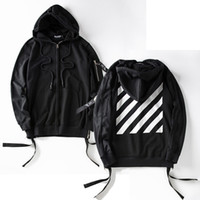 Wholesale 2017 man spring and autumn fashion new loose and comfortable sport Hooded long sleeve streamer stripe hoodie Postage free