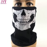 Livraison gratuite Mode Crâne Design Multi Function Outdoor Sport Bandana Moto Biker Masque Visette Tube Scarf, 100pcs / lot