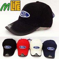 al por mayor coches de ocio-De Buena Calidad verano Ford Car Profesión Béisbol F1 Racing Copa Ocio ford Hat Logo Sombrero colores Sombrero