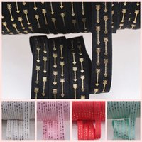 arrow bags - 5 quot gold foil arrow fold over elastic foe colors for Bags Garmnt DIY yards roll